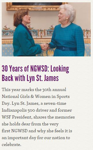 Lyn St. James NGWSD